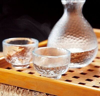 Ochoko Tokkuri Japanese glass Sake cup & bottle set Edo glass traditional craft