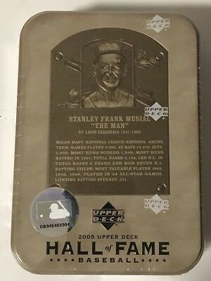2005 Upper Deck Hall Of Fame Factory Sealed Baseball Hobby Box Tin Stan Musial