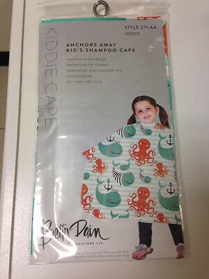 Betty Dain Anchors Away Kid's Shampoo Cape Waterproof Resistant Vinyl 271-AA