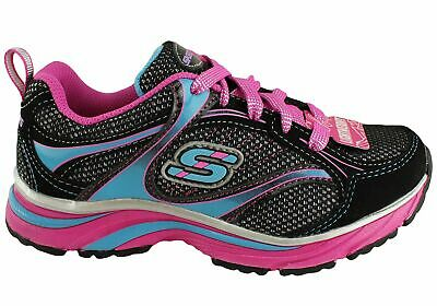 New Skechers Lite Swirlz Kids Girls  Lace Up Sport Shoes Sneakers
