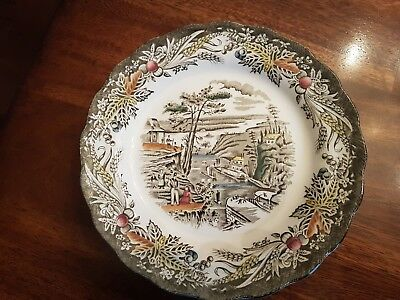 (4) Ridgway Bread Plates The Rideau Canal Bytown Heritage Excellent Condition