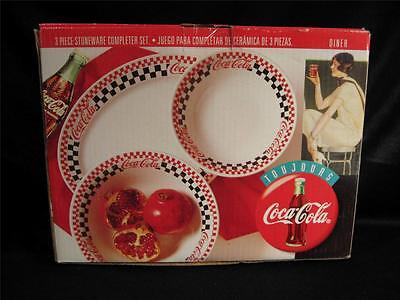 Coca Cola Three Piece Stoneware Completer Set - New In Box - Gibson