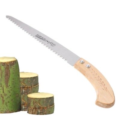 270mm Pruning Saw 3 Cutting Edges 65 Mn Woodworking Garden Tool with Wood Handle