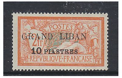 Lebanon - 1924, 10p on 2f stamp - V/L/M - SG 13