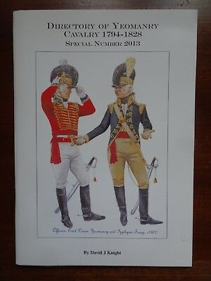 Directory of Yeomanry Cavalry 1794 - 1828 by David J Knight