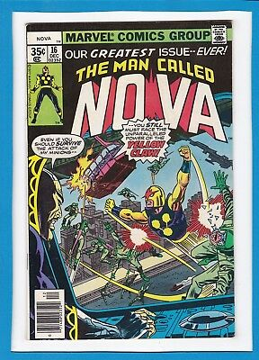 "The Man Called Nova #16_December 1977_Very Fine_""the Power Of Yellow Claw""!"