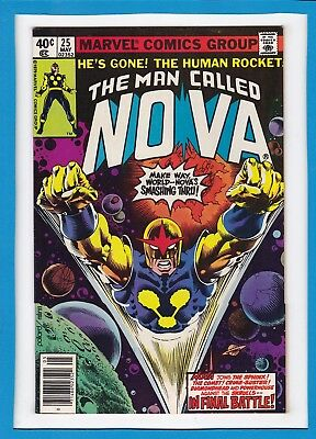 "The Man Called Nova #25_May 1979_Near Mint Minus_""in Final Battle""_Bronze Age!"