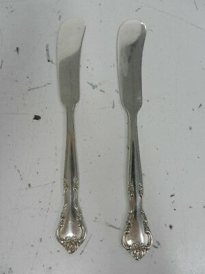 """Pair of Easterling """"American Classic"""" Sterling Silver 5 3/4"""" Butter Knifes 50.9g"""