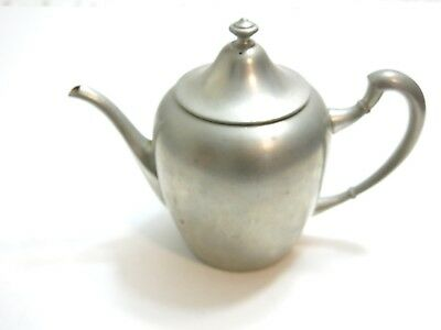 "Antique / Vintage Pilgrim Solid Pewter 2141 Teapot With Correct Lid 6 1/2"" Tall"