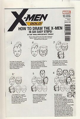 X-Men: Gold 13 NM Zdarsky How to Draw Variant Cover