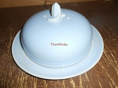 Vintage TS&T Luray Blue Muffin Cover & Plate