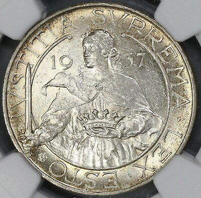 1937 NGC MS 64 SAN MARINO Silver 10 lire 20K Coins Minted (17102604C)