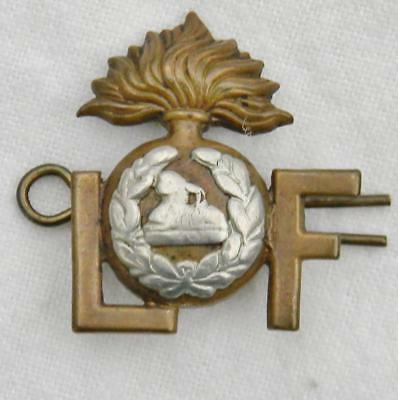 UK WW1 orig British Army Lancashire Fusiliers Regiment shoulder title pin SCARCE