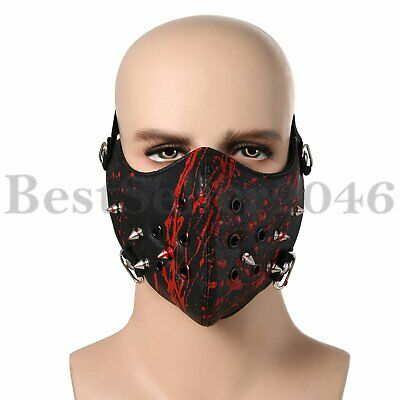 Punk Spike Motorcycle Face Mask Protective Biker Rock Gothic Cosplay Mask