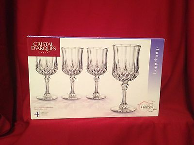 Cristal D'Arques Paris/ Diamax Crystal Goblet set from Longechamp NIB
