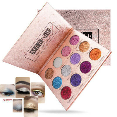 12Color Eyeshadow Palette Makeup Luxury Golden Shimmer Matte Eye Shadow Cosmetic
