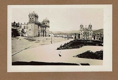 RPPC PERU Cuzco Main Plaza showing Cathedral and University H-558
