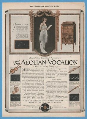 1920 Aeolian Hall New York City NY Vocalion Graduola Tone Control Phonograph Ad