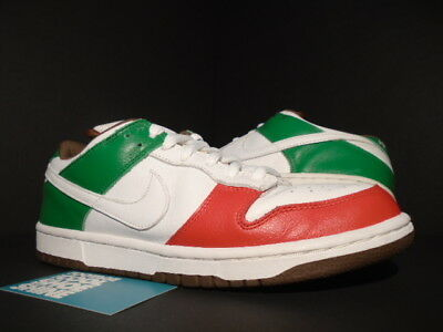 8a9f0331140 Nike Dunk Low Pro SB CINCO DE MAYO MEXICO WHITE RED GREEN BROWN 304292-113