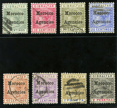 Morocco Agencies 1899 QV set complete very fine used. SG 9-16. Sc 12-19.