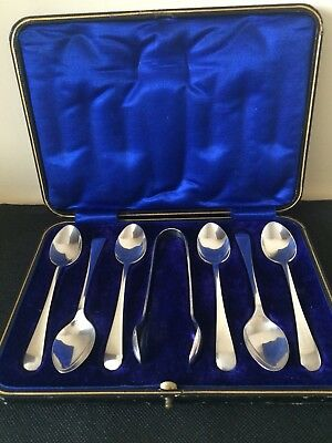 H/Marked Birmingham 1912 Silver Spoons & Tongs