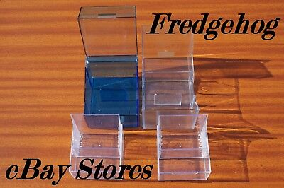A PACK OF 4 x ASSORTED MINIDISC STORAGE BOXES / CASES
