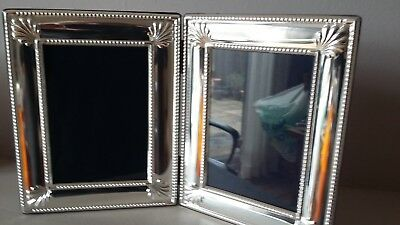 "Beautiful Quality& Large 11"" X 7"" R Carr Hallmarked Silver Double Photo Frame"