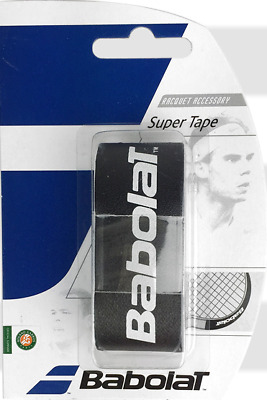 Babolat Super Tape - Tennis Racket Head Tape - Black - Free P&P
