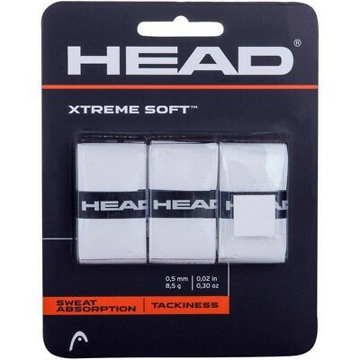 3 Head XtremeSoft Grips/Overgrips - White - Free P&P