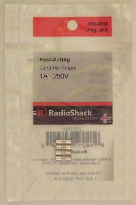 Fast-Acting 1-Amp 250-Volt Micro-Type Ceramic Fuses 3.6 x 10mm 1A 250V 4/PK