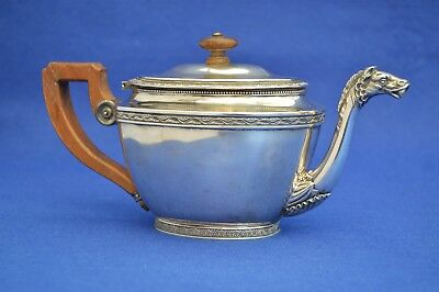 Antique Solid Silver French Late 19th Century Empire Style Teapot -