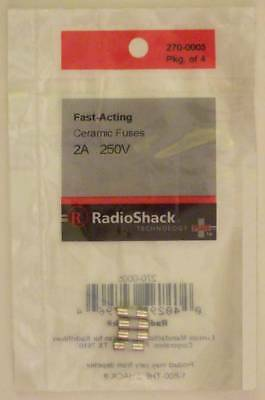 Fast-Acting 2-Amp 250-Volt Micro-Type Ceramic Fuses 3.6 x 10mm 2A 250V 4/PK