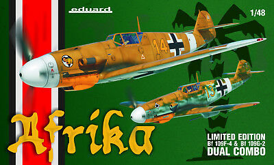 EDUARD 11116 Afrika (Bf109F-4 & Bf109G-2) Dual Combo in 1:48 LIMITED!!