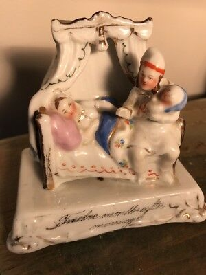 Rare ANTIQUE  Victorian China FAIRING  twelve months after marriage