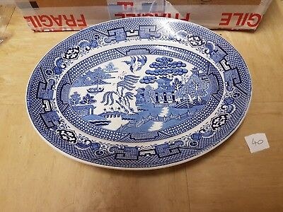 Vintage Swinnertons Old Willow Oval Plate Staffordshire England