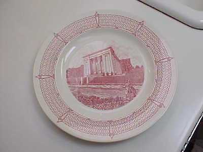 """Wedgwood 10 1/2"""" 1838-1938 Plate Egyptian Building Medical College Of Virginia"""