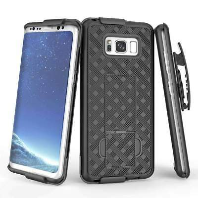 Samsung Galaxy S8 SM-G950U Shell Holster Combo Case with Kick-Stand & Belt Clip