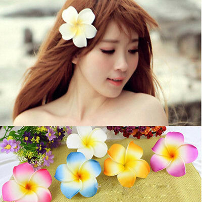 Holida Beach Hawaii Women Egg Flower Hair Clips Beach Party Hairpin Headwear