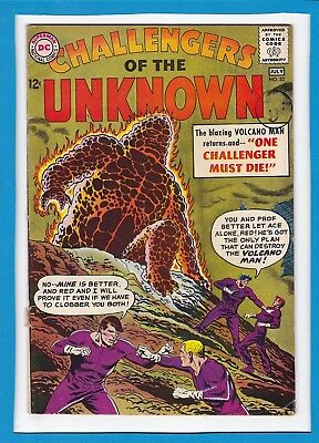 Challengers Of The Unknown #32_July 1963_Very Good/fine_Volcano Man_Silver Age!