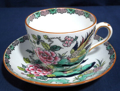 Crown Staffordshire Fine Bone China Rock Bird Oriental Tea Cup and + Saucer Set