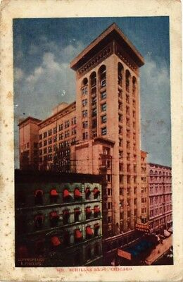 Dr Jim Stamps Us Postcard Schiller Building In Chicago Illinois 1908