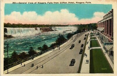 Dr Jim Stamps Us Postcard View Of Niagara Falls From Clifton Hotel