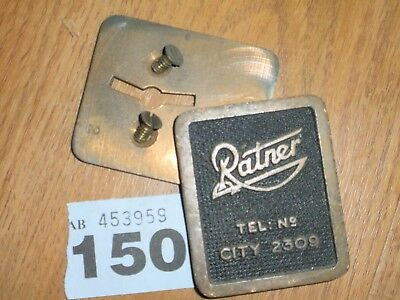 Brass Safe Plaque   Ratner Key Hole Cover