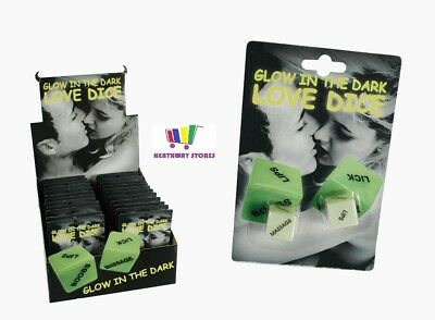 Glow In The Dark Adult Love Dice Funny Game Novelty Gift Valentines Anniversary