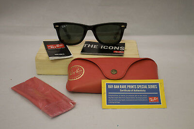 Ray-Ban RARE PRINTS Special Series #10 WAYFARER SUNGLASSES RB2140 Italy 1131/58