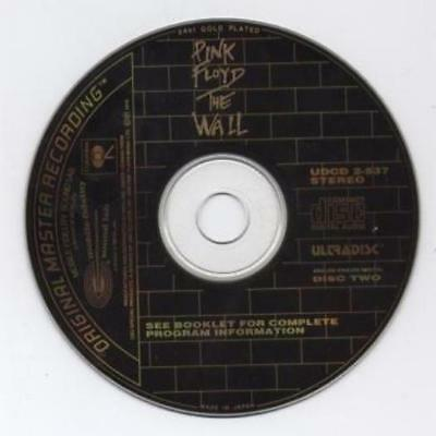 Pink Floyd: The Wall Japan 24kt GOLD PLATED Disc 2 Music CD UDCD2-537 MFSL Ultra