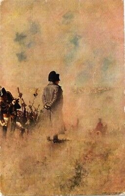 Dr Jim Stamps Napoleon With Soldiers Painting France Linen Postcard