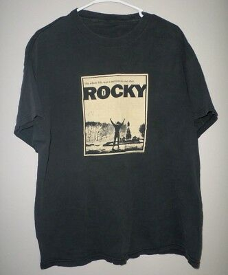 ROCKY retro T shirt movie-poster Sylvester Stallone 1976 boxing Philly XL tee