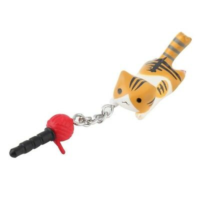 Newest Cat Playing Ball 3.5mm Anti Dust Earphone Jack Plug Stopper For Phone FA