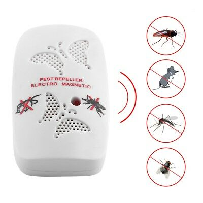 Electronic Ultrasonic Mosquito Mouse Killer Repeller White Practical Gadget HM